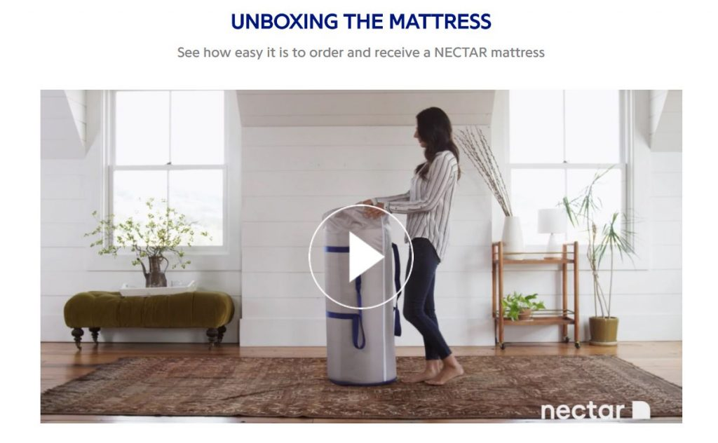 unboxing the nectar mattress