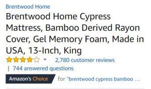 mattress by brentwood